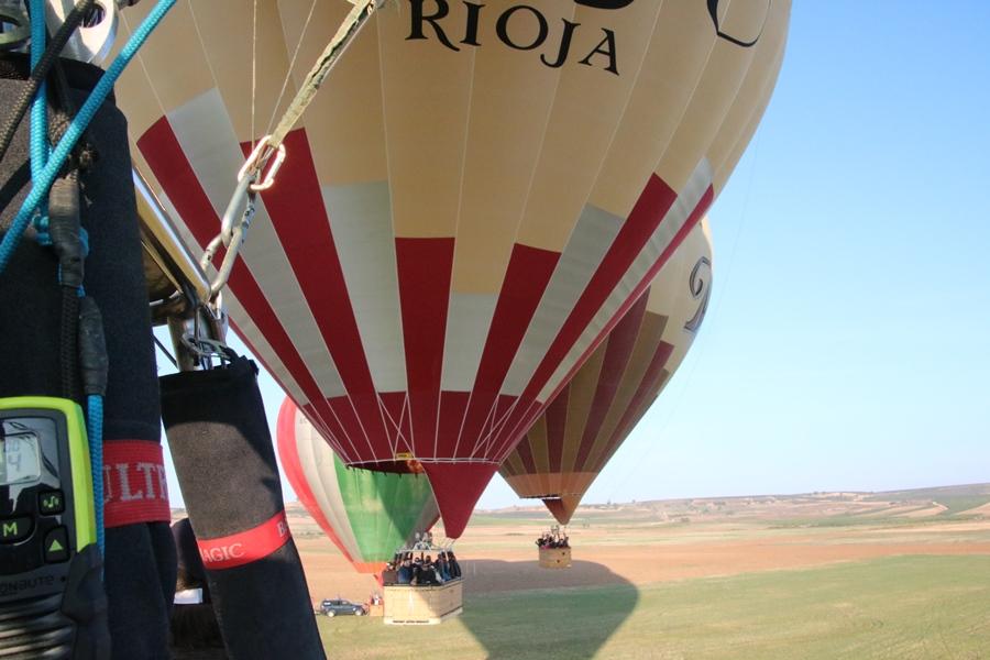 Vista desde uno de los globo