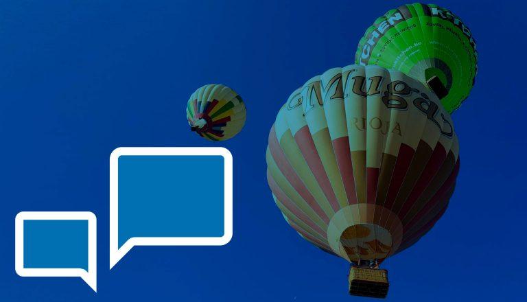 vuelo en globo arcoiris clientes