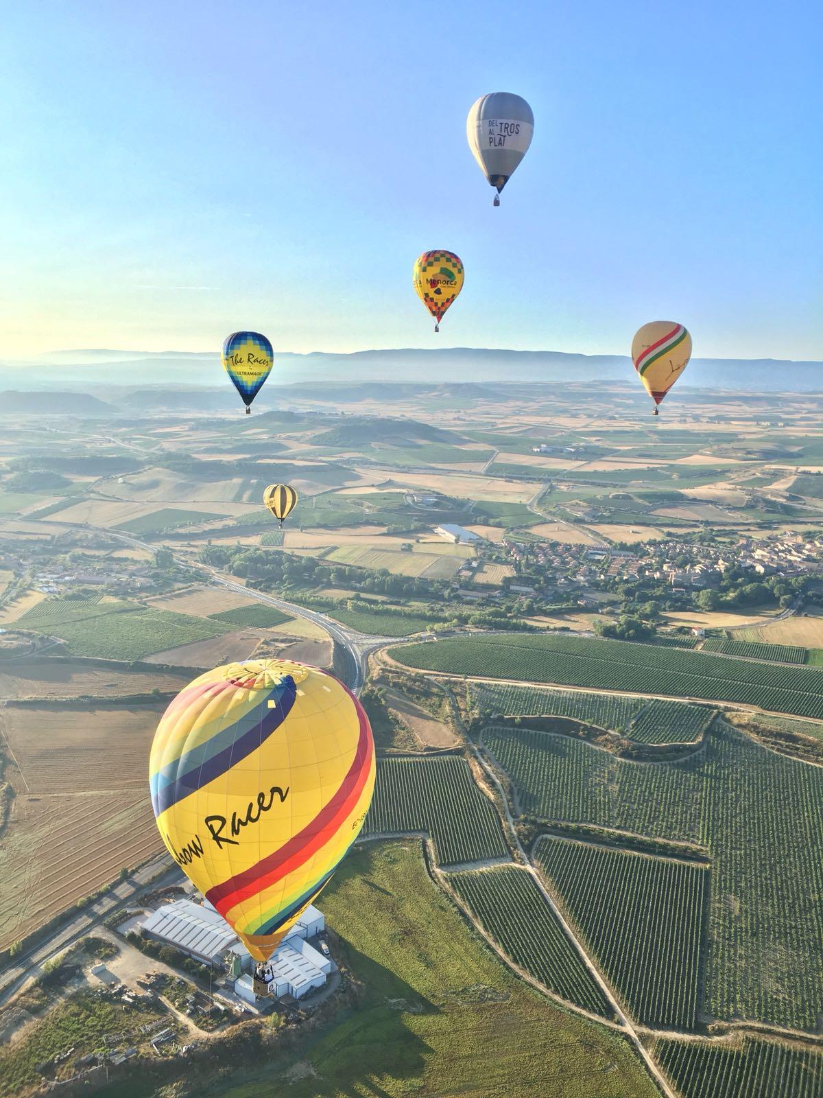 vuelo globo en haro globos